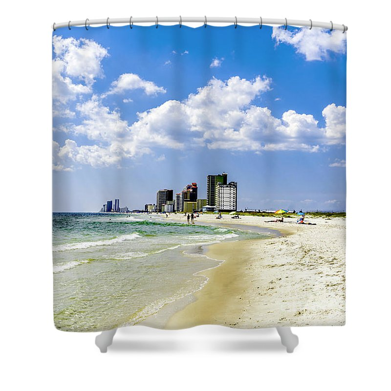 1746a Shower Curtain featuring the photograph Gulf Shores Al Beach Seascape 1746a by Ricardos Creations