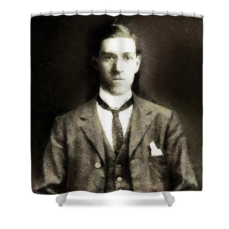 H P Lovecraft Shower Curtains