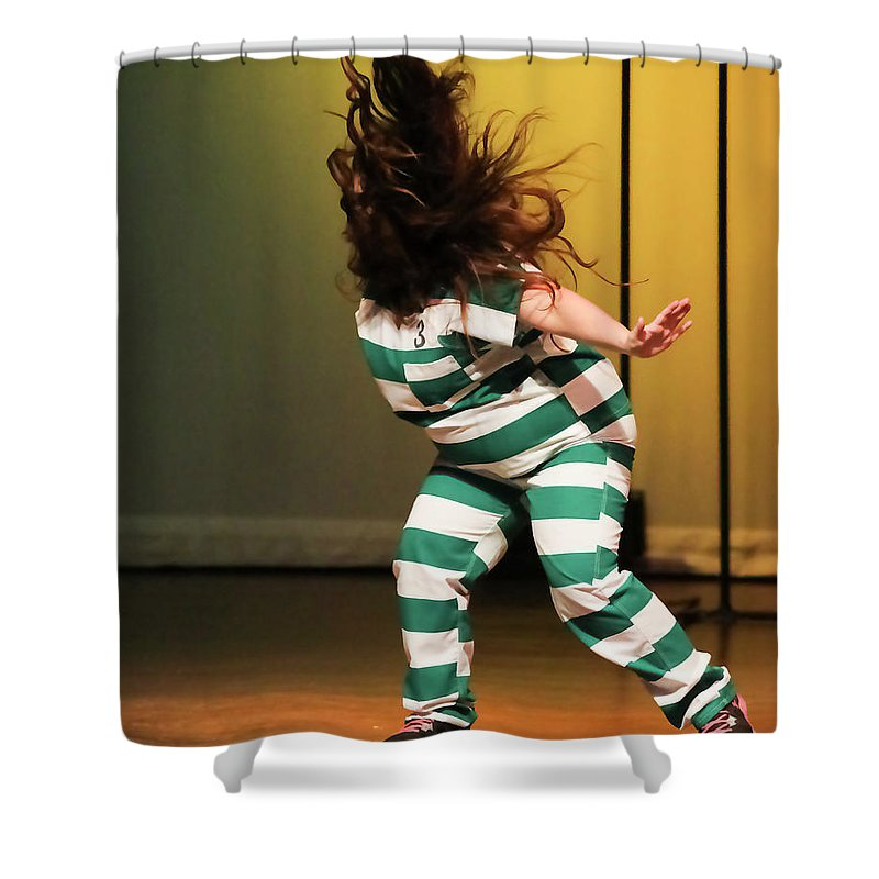 People Shower Curtain featuring the photograph Hair Fly by Leigh Lofgren