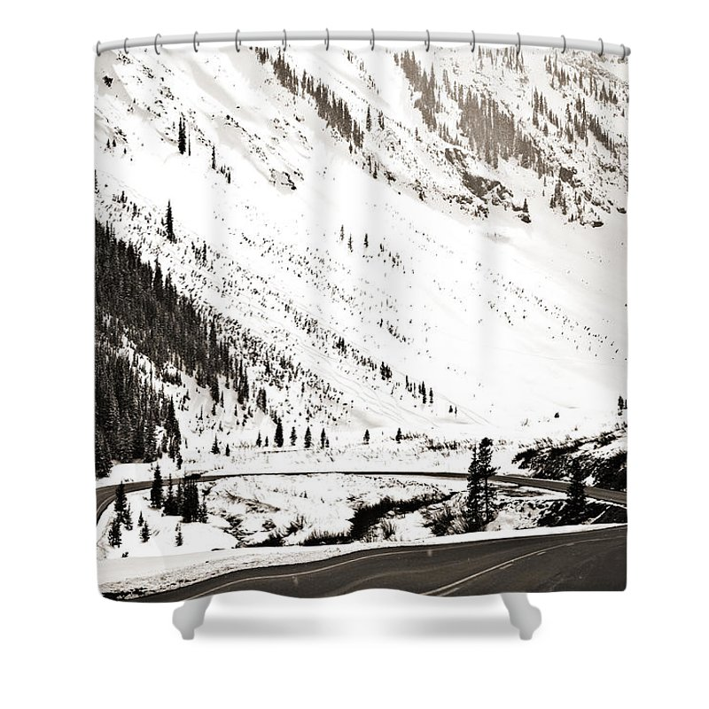 Curve Shower Curtain featuring the photograph Hairpin Turn by Marilyn Hunt