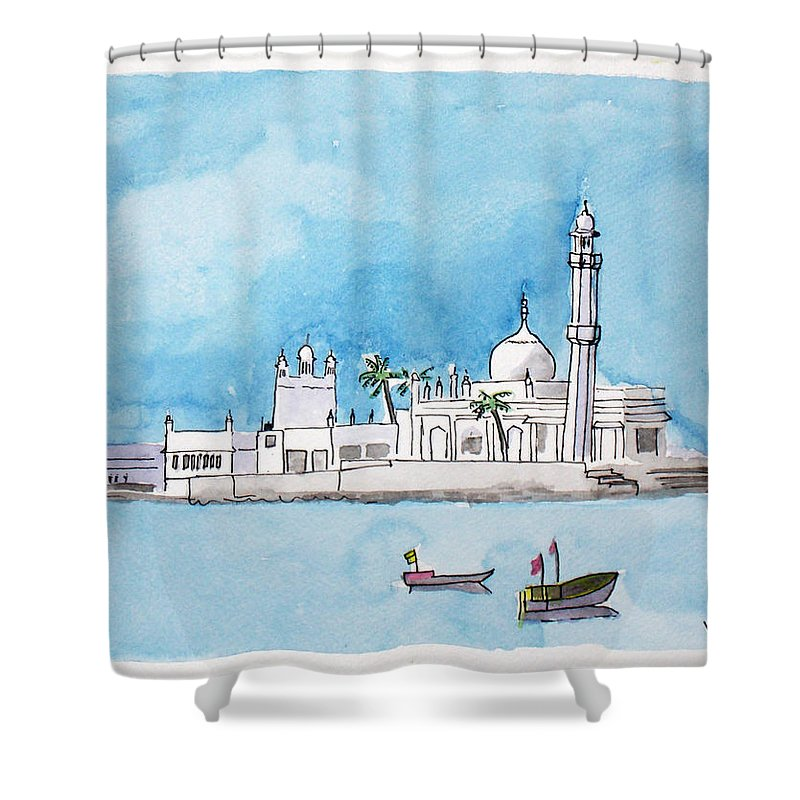 Haji Ali Mumbai Shower Curtain For Sale By Keshava Shukla
