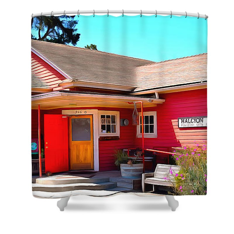 Barbara Snyder Shower Curtain Featuring The Painting Halcyon Store California By