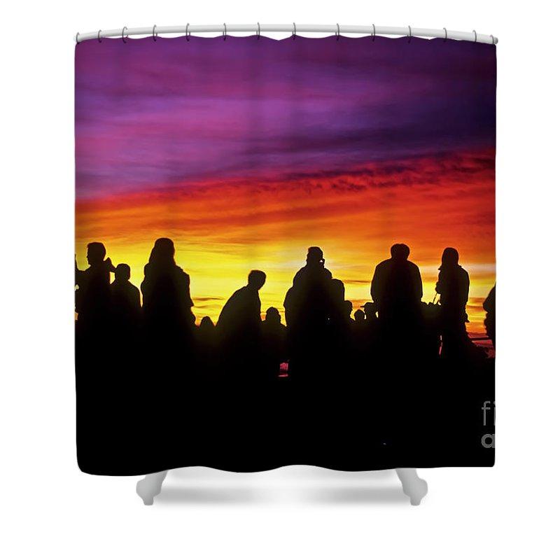 Haleakala Sunrise Shower Curtain featuring the photograph Haleakala Color Show by Jim Cazel