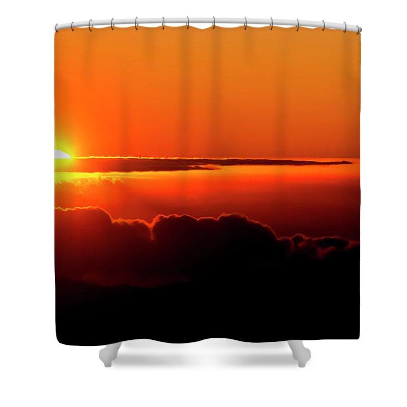 Sunrise Shower Curtain featuring the photograph Maui Hawaii Haleakala National Park Sunrise IIi by Jim Cazel