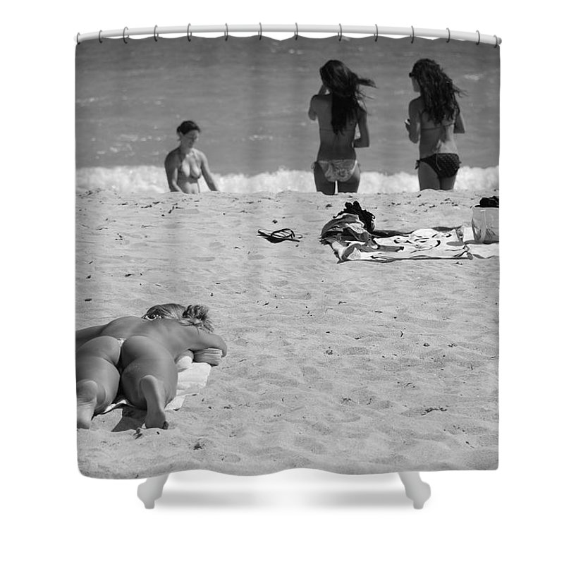 Miami Shower Curtain featuring the photograph Half Dead Half Alive by Rob Hans