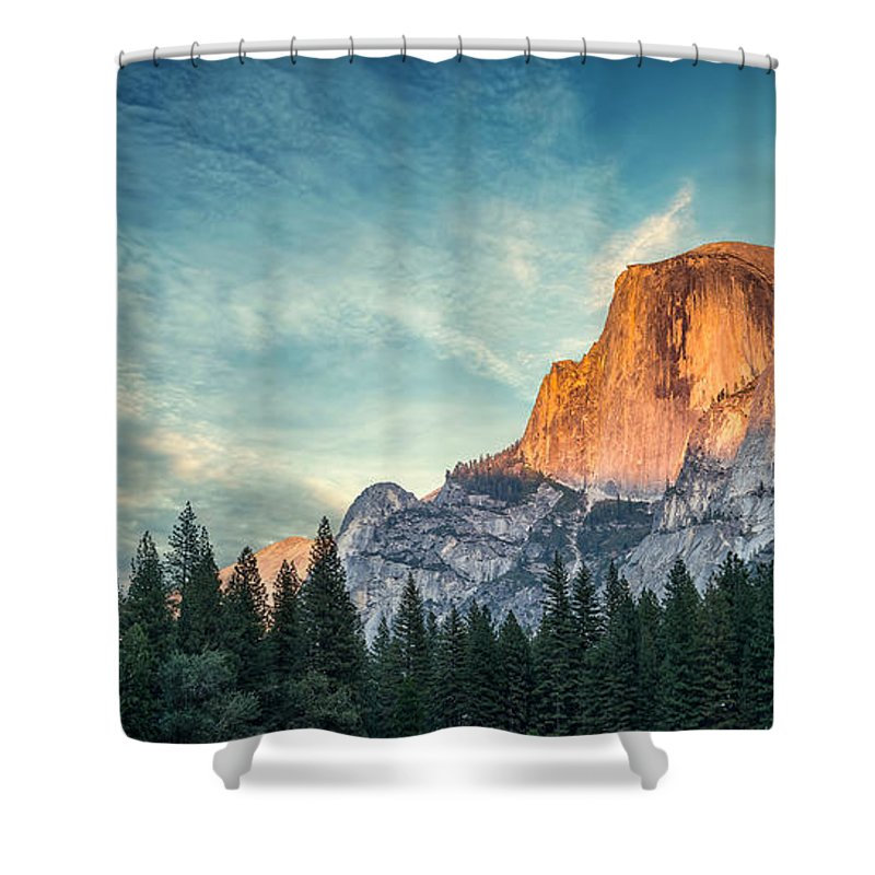 Half Dome Shower Curtain featuring the photograph Half Dome by Brian Anderson