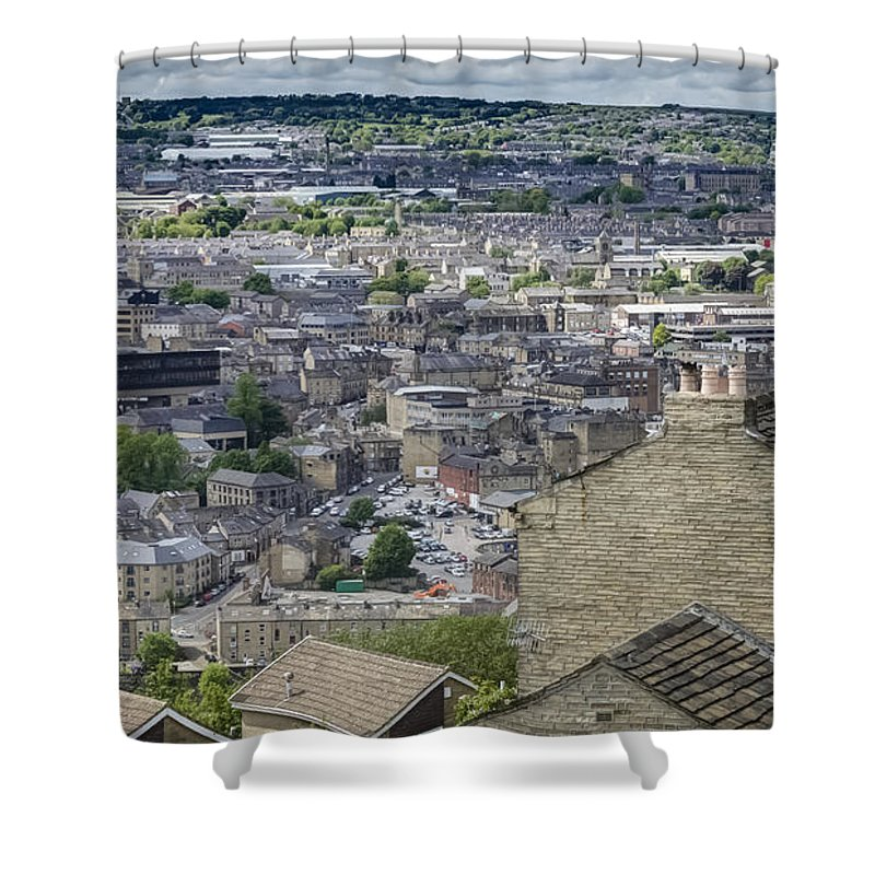 Halifax Shower Curtain featuring the photograph Halifax Panoramic View 4 by Mike Walker