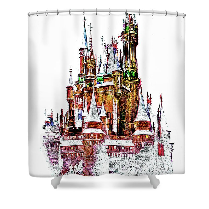 Castle Shower Curtain featuring the photograph Hall Of The Snow King by Steve Harrington