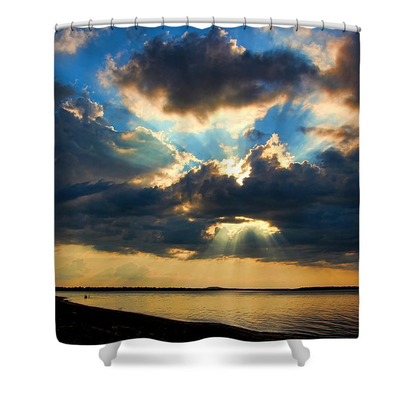Sunset Shower Curtain featuring the photograph Hallelujah by Carolyn Fletcher