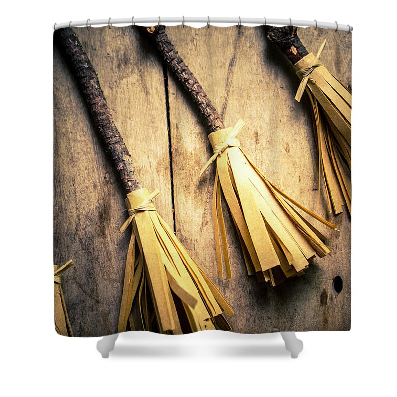 Halloween Shower Curtain featuring the photograph Halloween Witch Craft by Jorgo Photography - Wall Art Gallery