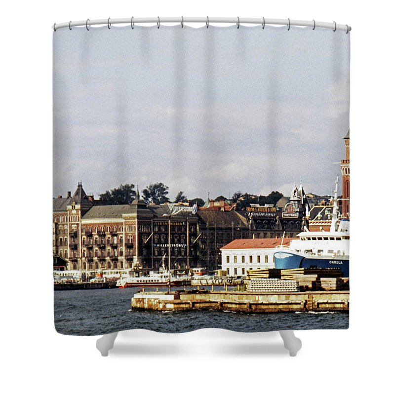 Sweden Shower Curtain featuring the photograph Halsingborg 1 by Lee Santa