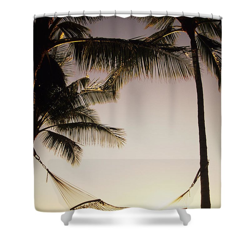 Attach Shower Curtain featuring the photograph Hammock by Dana Edmunds - Printscapes