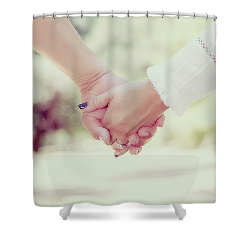 Love Shower Curtain featuring the photograph Hand In Hand by Sandy Sheni