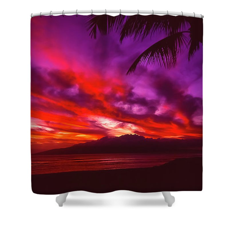 Landscapes Shower Curtain featuring the photograph Hand Of Fire by Jim Cazel