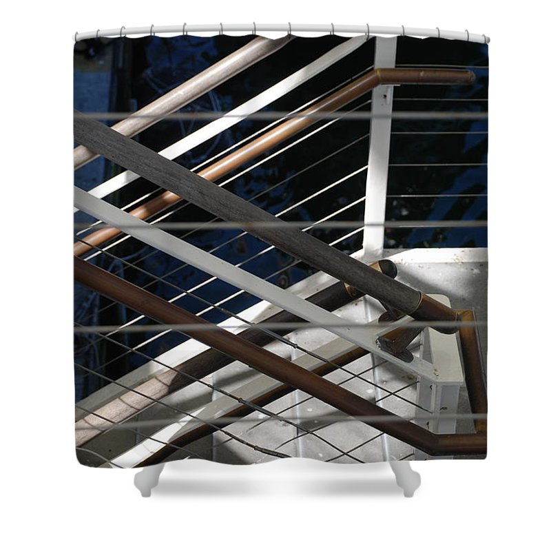 Water Shower Curtain featuring the photograph Hand Rails by Rob Hans