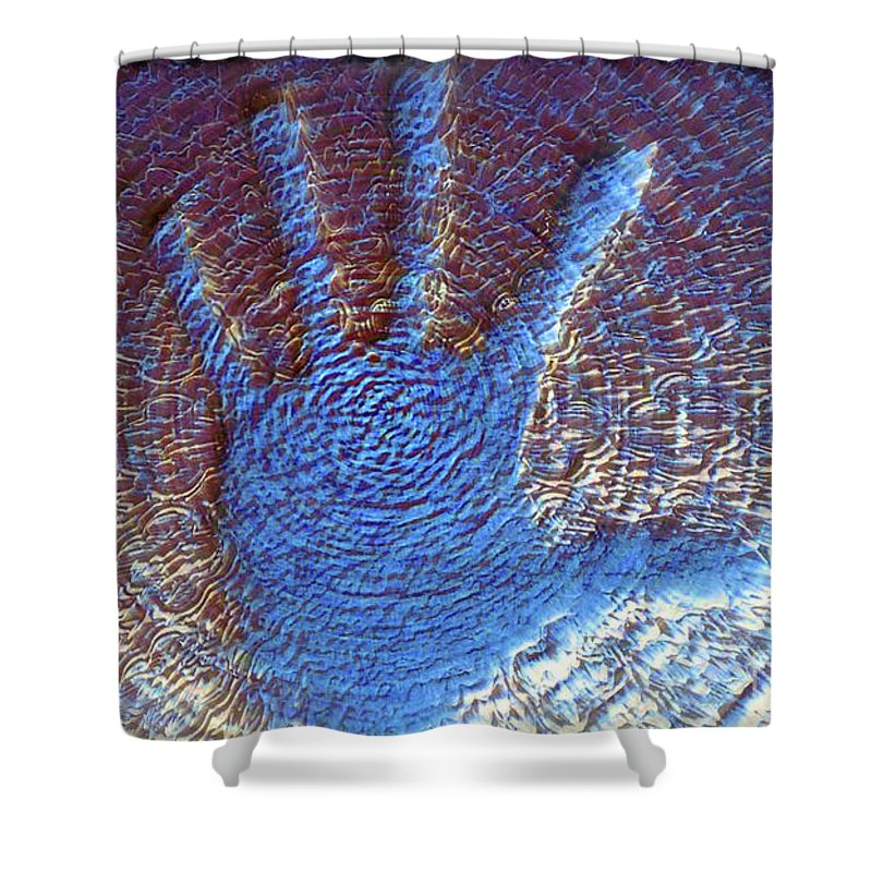 Fine Arts Shower Curtain featuring the photograph Hand That Giveth by Morris Keyonzo