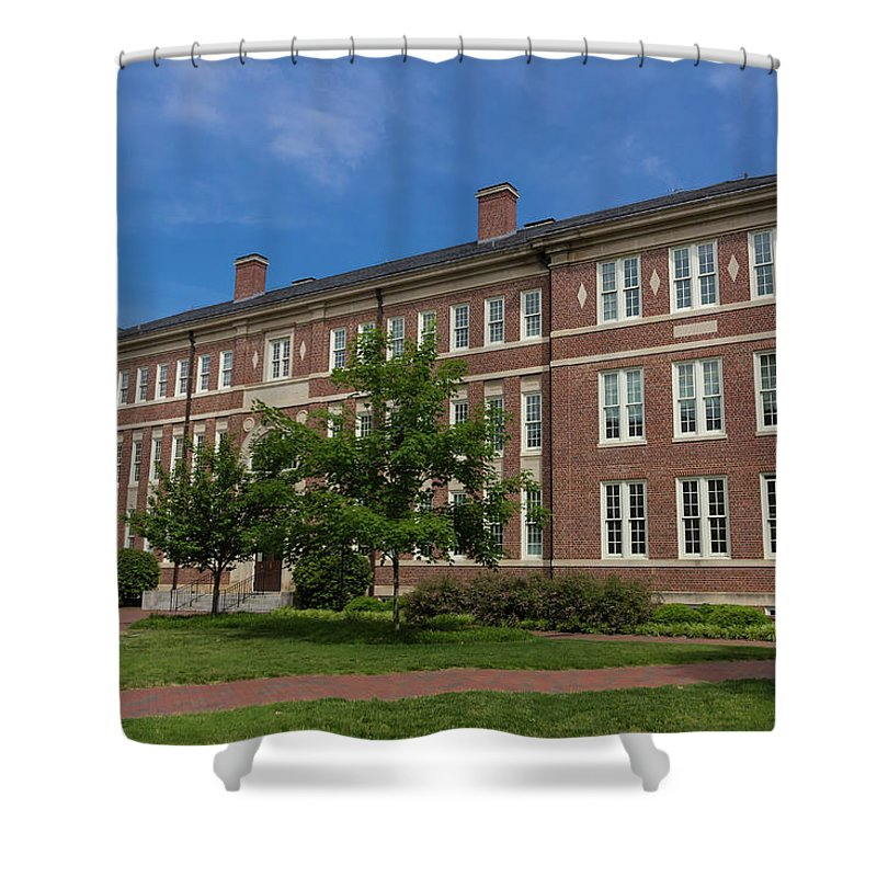 Architecture Shower Curtain Featuring The Photograph Hanes Hall At Unc Chapel Hill By Bryan Pollard