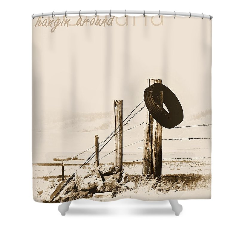 Montana Shower Curtain featuring the photograph Hangin Around Montana by Susan Kinney
