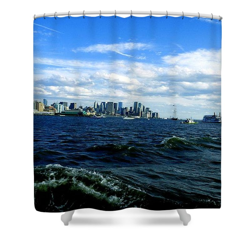 Water Shower Curtain featuring the photograph Hangin With Mermaids by Kendall Eutemey