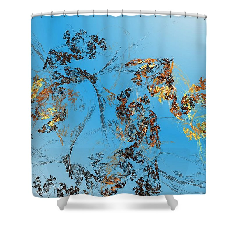 Digital Painting Shower Curtain featuring the digital art Hanging On by David Lane