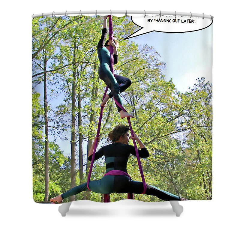 2d Shower Curtain featuring the photograph Hanging Out by Brian Wallace