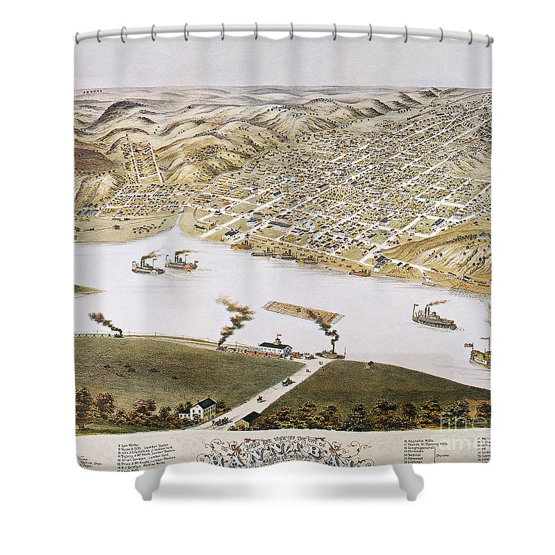 1869 Shower Curtain featuring the photograph Hannibal, Missouri, 1869 by Granger