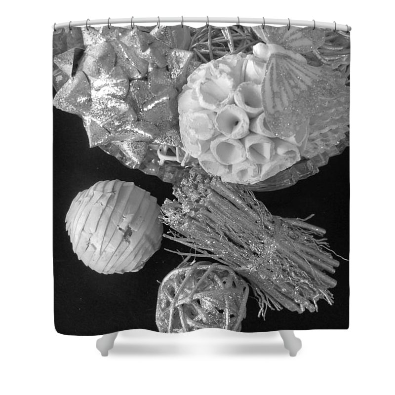 Black And White Shower Curtain featuring the photograph Still Life by Cindy Kellogg