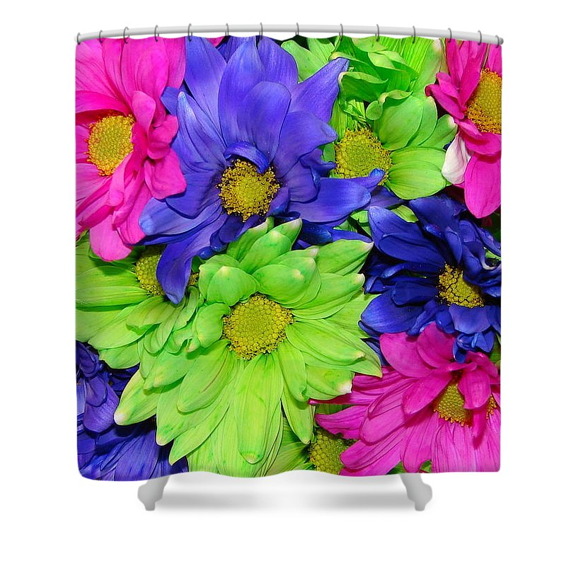 Flowers Shower Curtain featuring the photograph Happiness by J R  Seymour