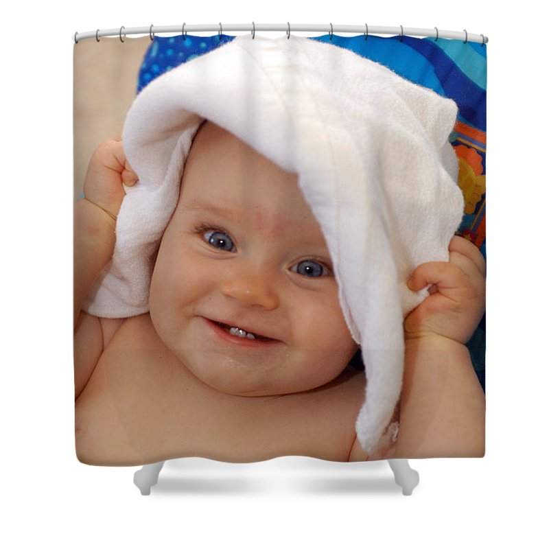 Happy Contest Shower Curtain featuring the photograph Happy Contest 7 by Jill Reger