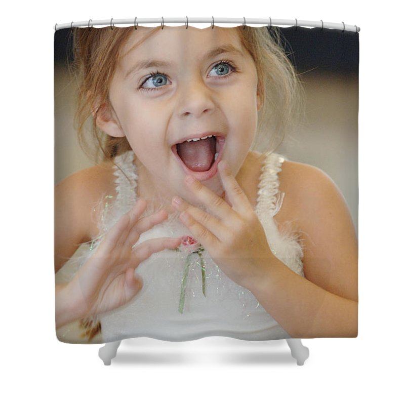 Happy Contest Shower Curtain featuring the photograph Happy Contest 8 by Jill Reger