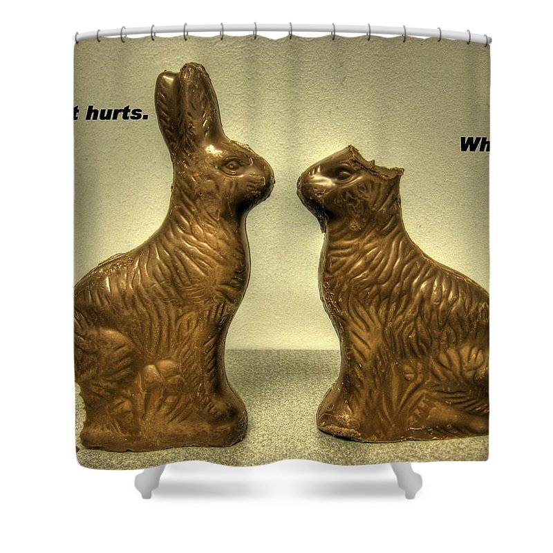 Easter Card Shower Curtain featuring the photograph Happy Easter Card by Jane Linders