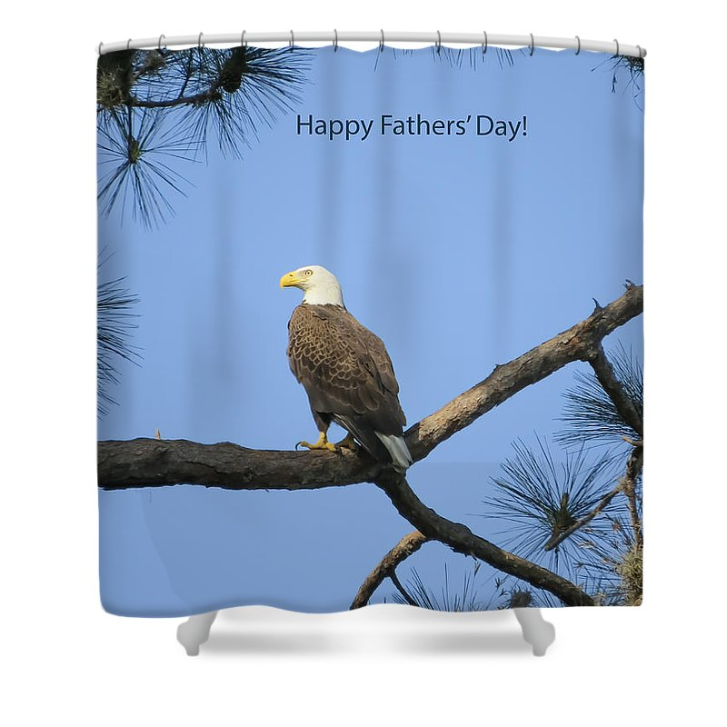 Holiday Shower Curtain featuring the photograph Happy Father's Day by Zina Stromberg