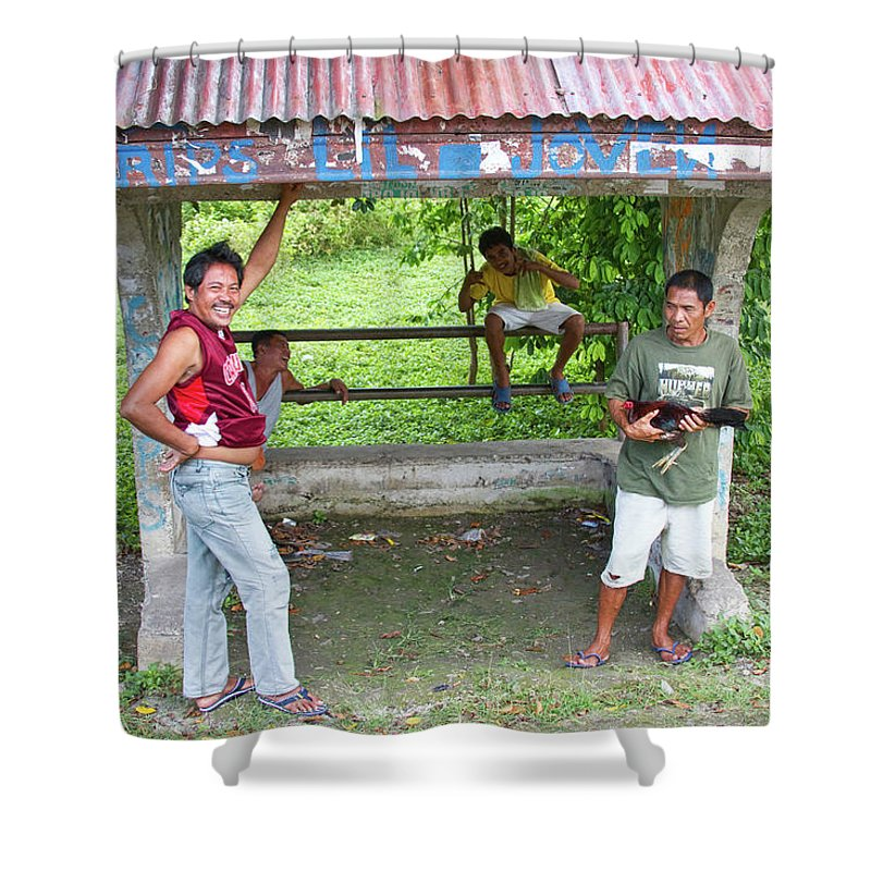 Insogna Shower Curtain featuring the photograph Happy Filipinos by James BO Insogna