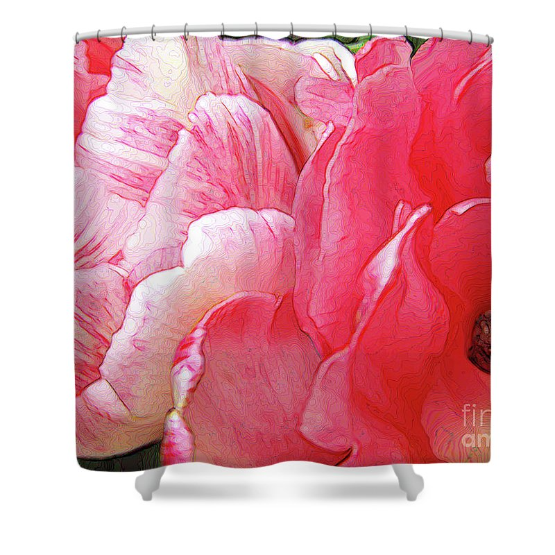 Tulips Shower Curtain featuring the photograph Happy Little Snail by Kim Tran