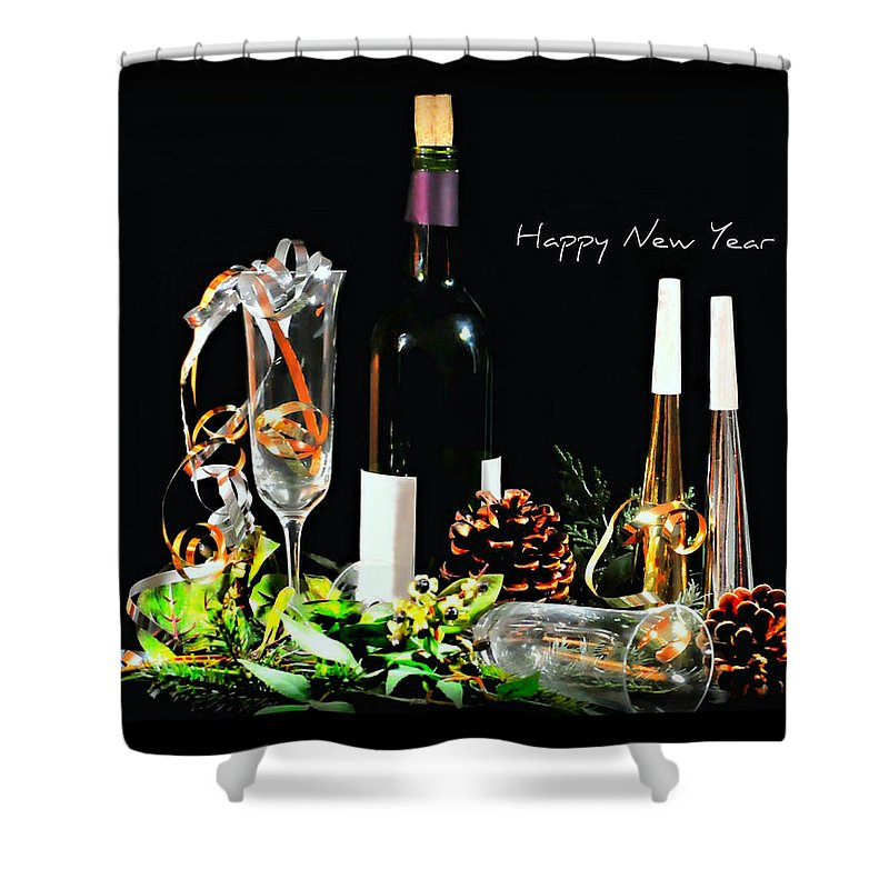 Still Life Shower Curtain featuring the photograph Happy New Year by Diana Angstadt