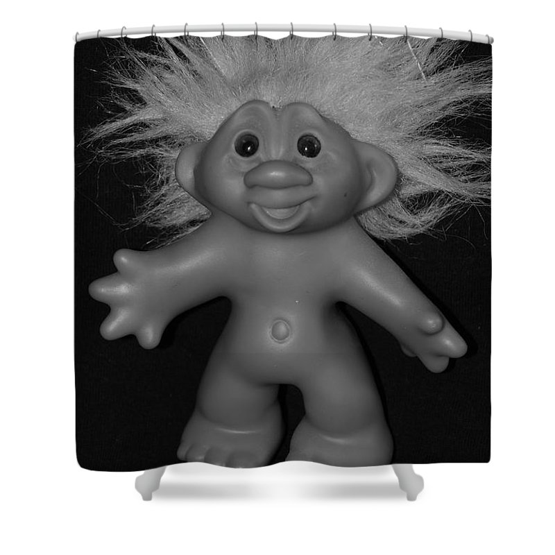 Happy Shower Curtain featuring the photograph Happy Troll by Rob Hans