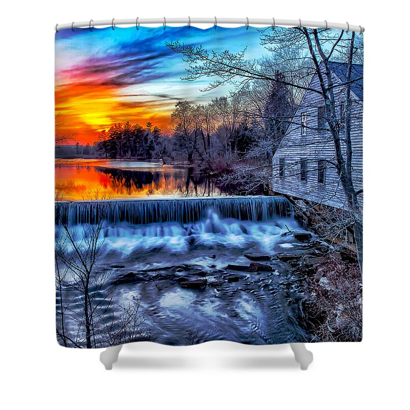 New England Shower Curtain featuring the photograph Harbor by Larry Richardson
