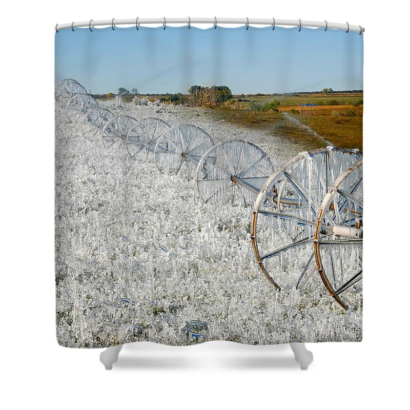 Farm Shower Curtain featuring the photograph Hard Land Farming by David Lee Thompson