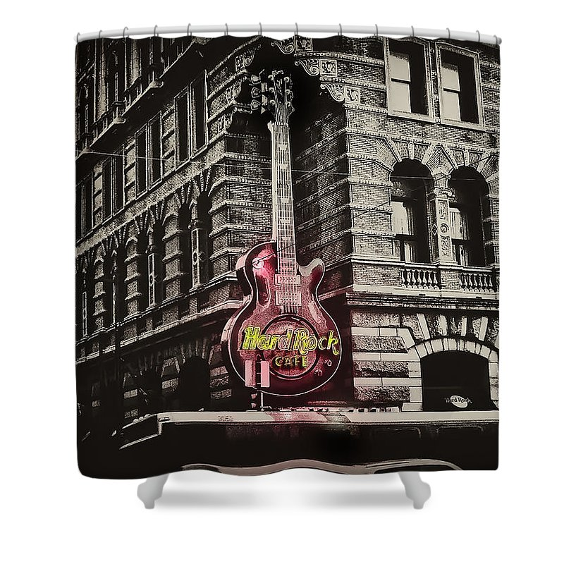 Philadelphia Shower Curtain featuring the photograph Hard Rock Philly by Bill Cannon