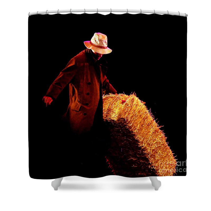 Clay Shower Curtain featuring the photograph Hard Work by Clayton Bruster