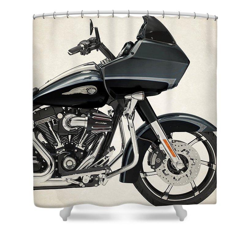 Harley Davidson Cvo Road Glide Custom 2013b Shower Curtain For Sale By Stephanie Hamilton