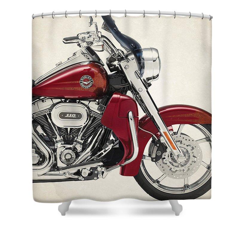 Harley Davidson Cvo Road King 2013 Shower Curtain For Sale By Stephanie Hamilton