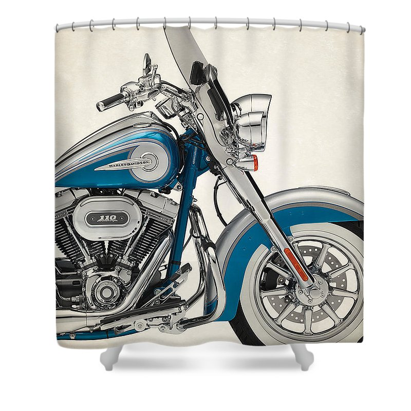 Harley Davidson Cvo Softail Deluxe 2015a Shower Curtain For Sale By Stephanie Hamilton