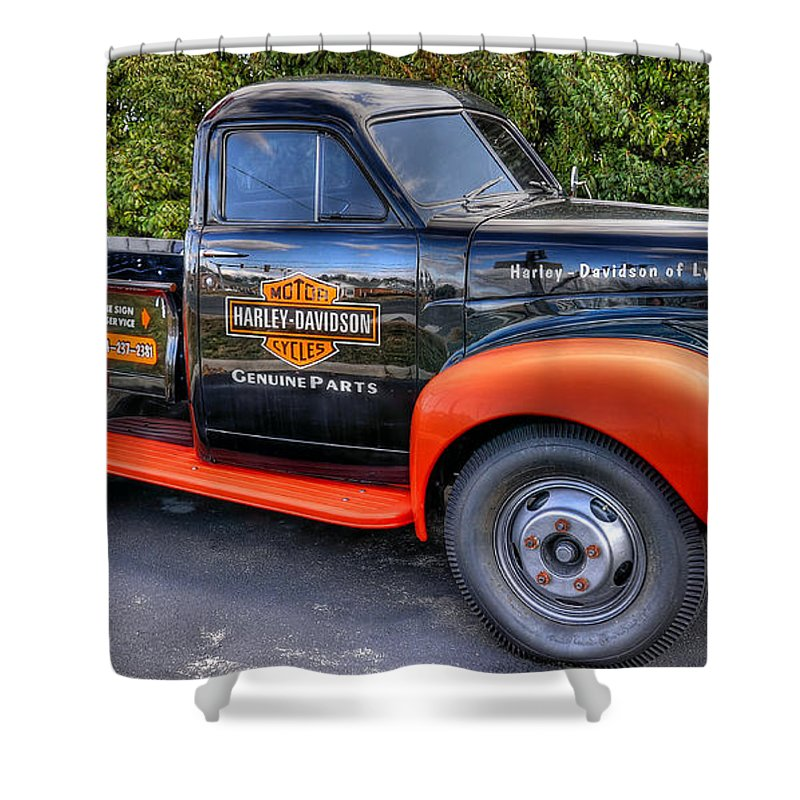 Harley Davidson Truck Shower Curtain For Sale By Todd Hostetter