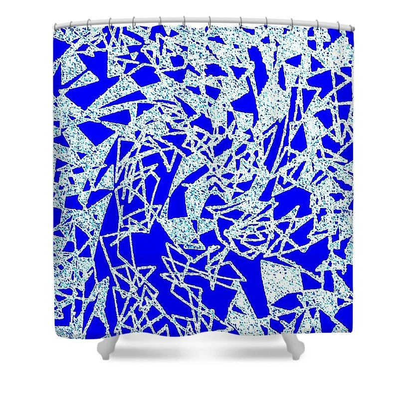 Abstract Shower Curtain featuring the digital art Harmony 10 by Will Borden