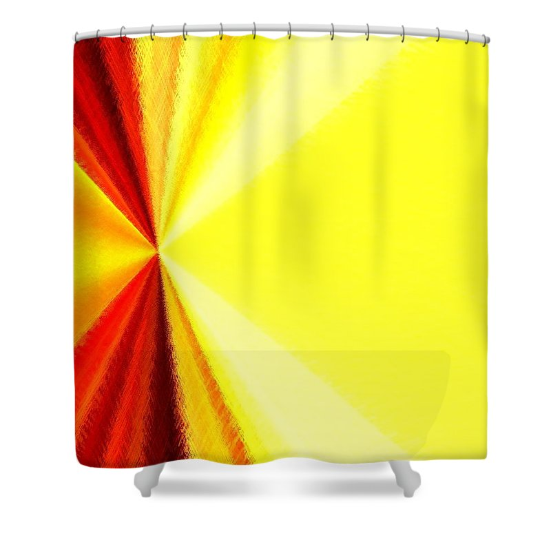 Abstract Shower Curtain featuring the digital art Harmony 29 by Will Borden