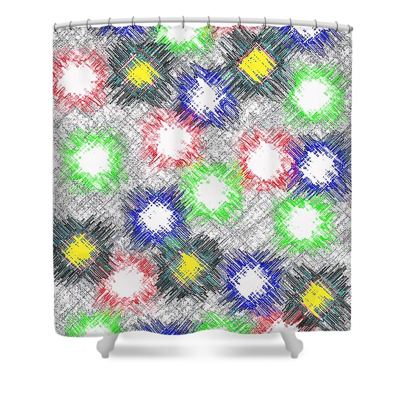 Abstract Shower Curtain featuring the digital art Harmony 32 by Will Borden