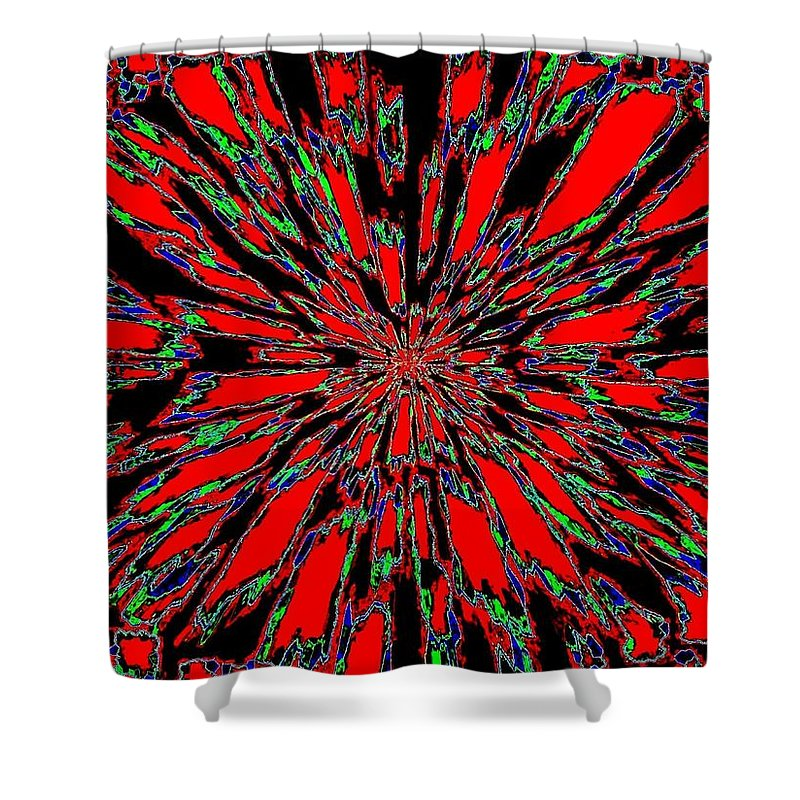 Abstract Shower Curtain featuring the digital art Harmony 37 by Will Borden