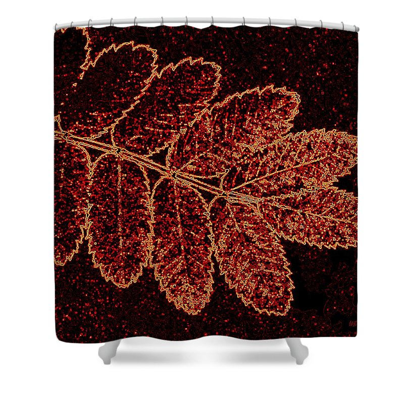 Abstract Shower Curtain featuring the digital art Harmony 9 by Will Borden