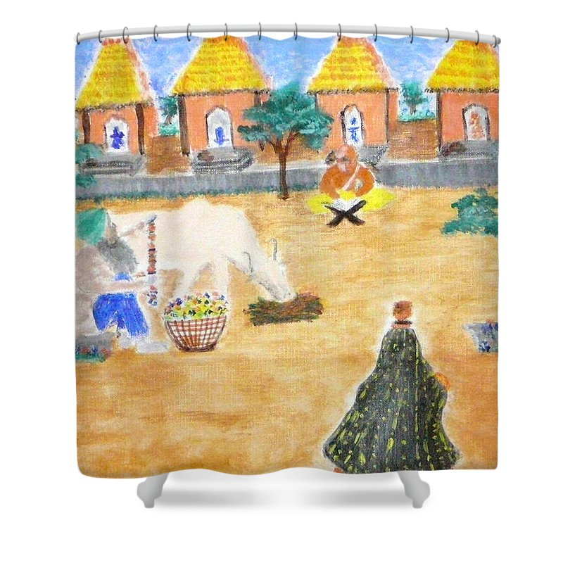Shower Curtain featuring the painting Harmony by R B